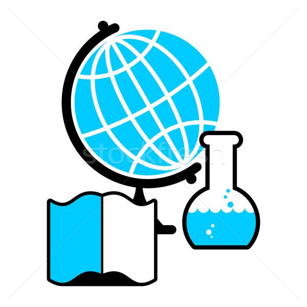 科学 ロゴ 世界中 室 図書 ストックフォト © MaryValery