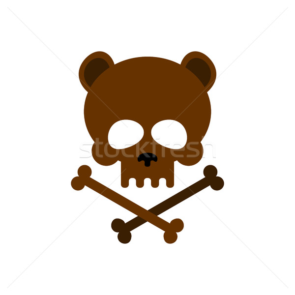 Cute bear skull with bones. Honey bear  good skeletons head, kin Stock photo © MaryValery