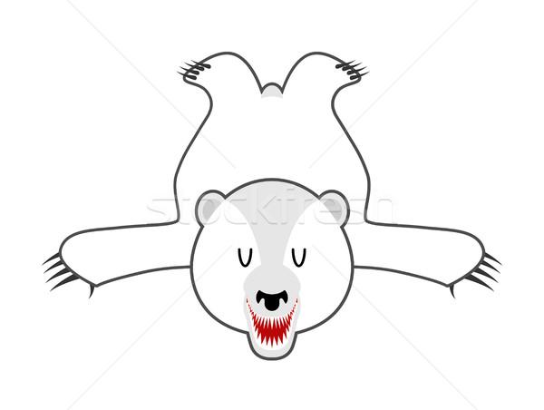 Stock foto: Weiß · tragen · Haut · Eisbär · wildes · Tier · nördlich
