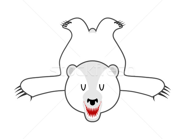 Branco tenha pele urso polar norte Foto stock © MaryValery
