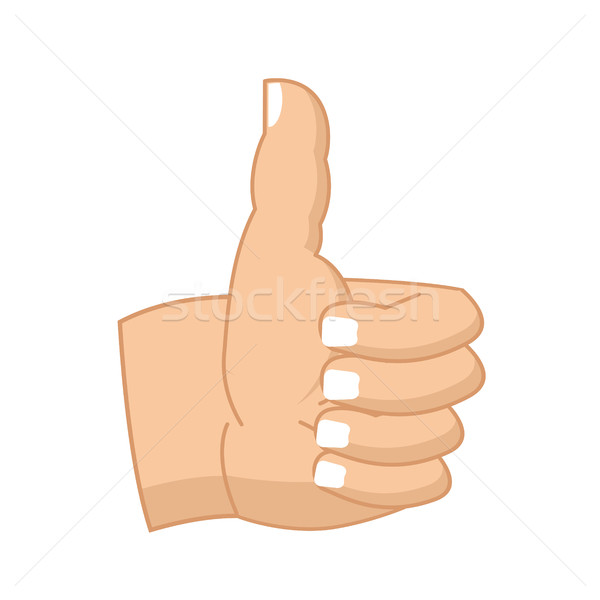 Thumbs up hand sign isolated. like Symbol all right. Success ges Stock photo © MaryValery