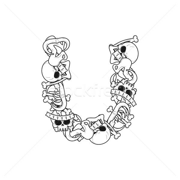 Carta esqueleto ossos fonte anatomia alfabeto Foto stock © MaryValery