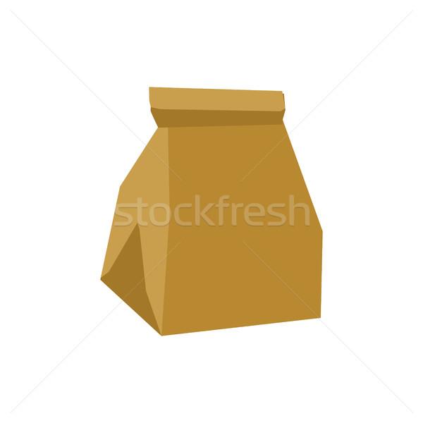 мусора изолированный пакет мусор белый Сток-фото © MaryValery