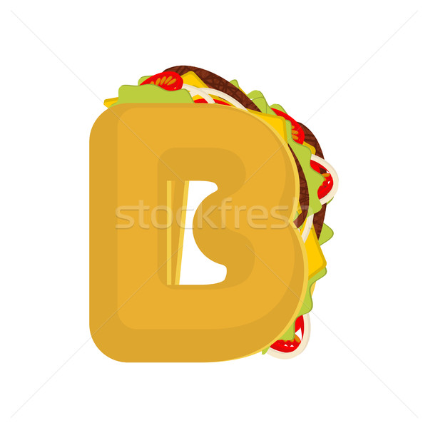Stockfoto: Brief · taco · Mexicaanse · fast · food · doopvont · taco