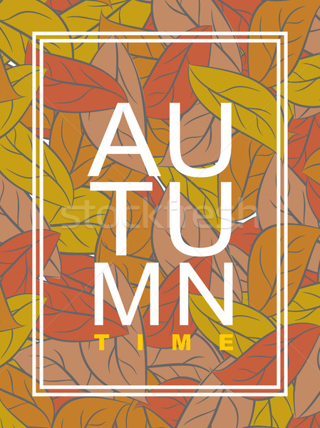 Autumn time. Golden foliage. Vector illustration wilted leaves.  Stock photo © MaryValery