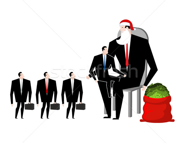 Natal bônus patrão papai noel trabalhadores vermelho Foto stock © MaryValery