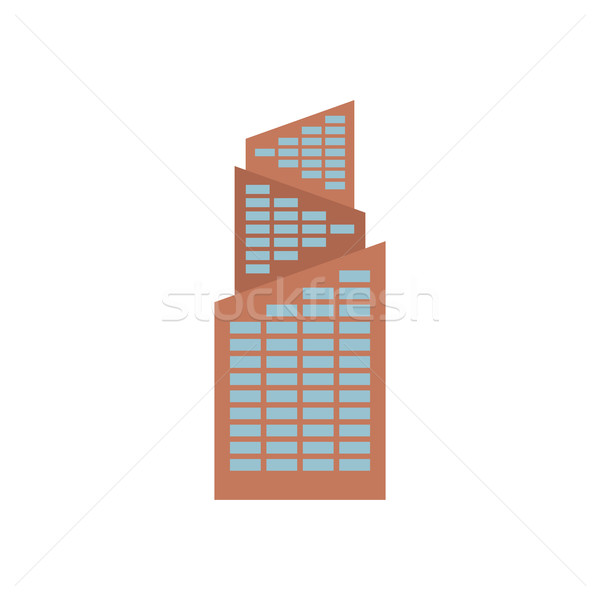 Office building isolated. city architecture sign. Business struc Stock photo © MaryValery