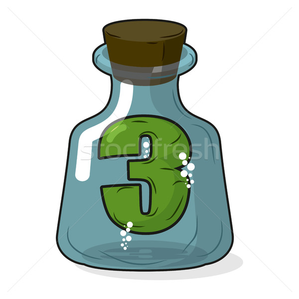 Three in bottle for scientific research. Figure 3 in  magic vess Stock photo © MaryValery