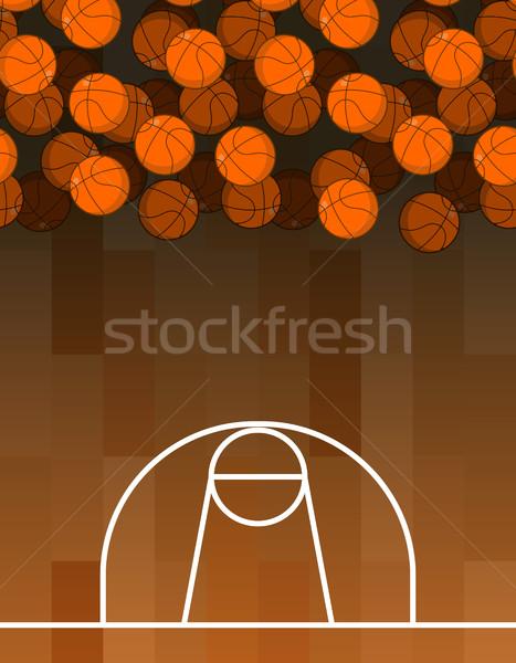 Piłka boisko do koszykówki koszykówki sportowe Zdjęcia stock © MaryValery