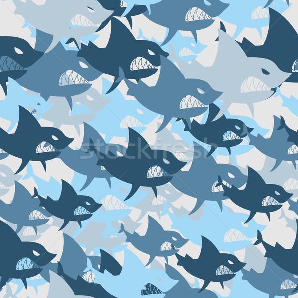 акула военных армии рыбы солдата Сток-фото © MaryValery