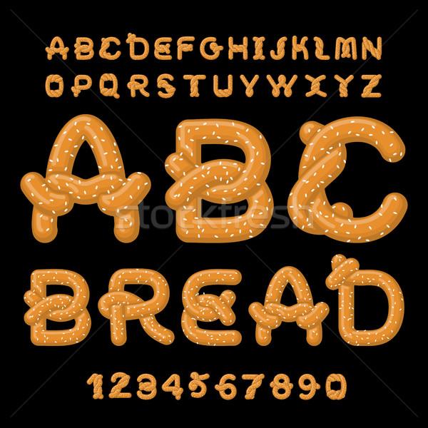 Ekmek tuzlu kraker gıda alfabe geleneksel Stok fotoğraf © MaryValery