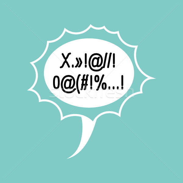 Profanity Comic speech Bubble isolated. Place for text swearing Stock photo © MaryValery