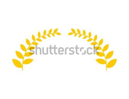 Oliva ramo dourado coroa símbolo vitória Foto stock © MaryValery
