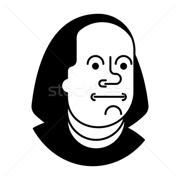 portrait  Benjamin Franklin isolated on 100 dollars banknote USA Stock photo © MaryValery