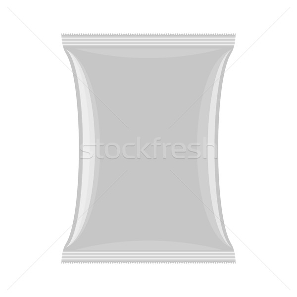 Packaging for chips and snacks. Empty pack template. Vector illu Stock photo © MaryValery