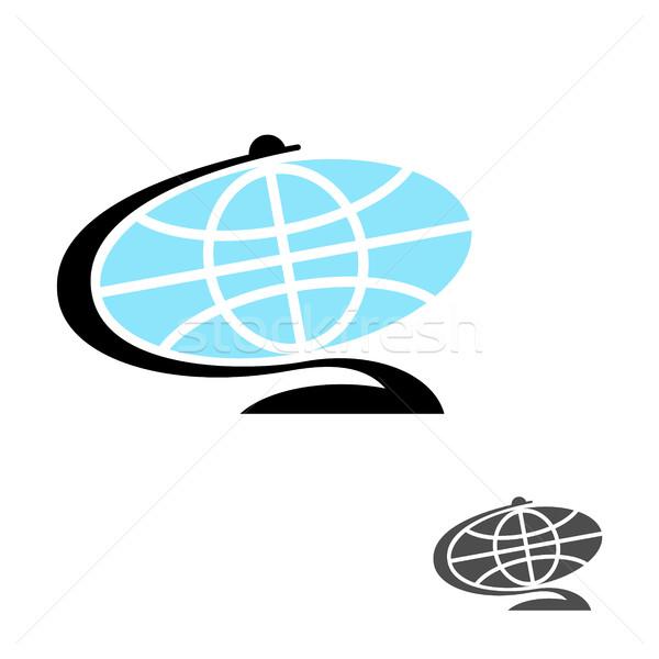 Földgömb ikon Föld labda karakter Föld Stock fotó © MaryValery