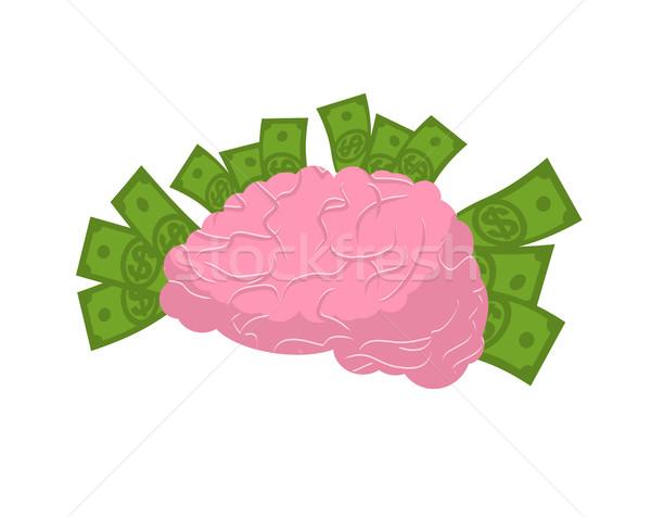 脳 お金 孤立した ビジネス アイデア 人間 ストックフォト © MaryValery