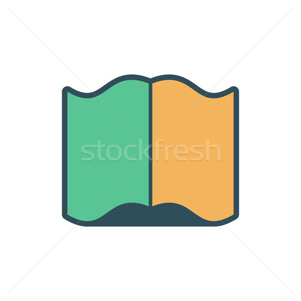 Livre ouvert signe vieux volume blanche Photo stock © MaryValery