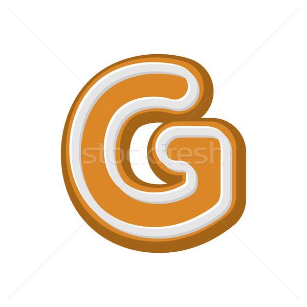 G betű mézeskalács borsmenta betűtípus sütik ábécé Stock fotó © MaryValery