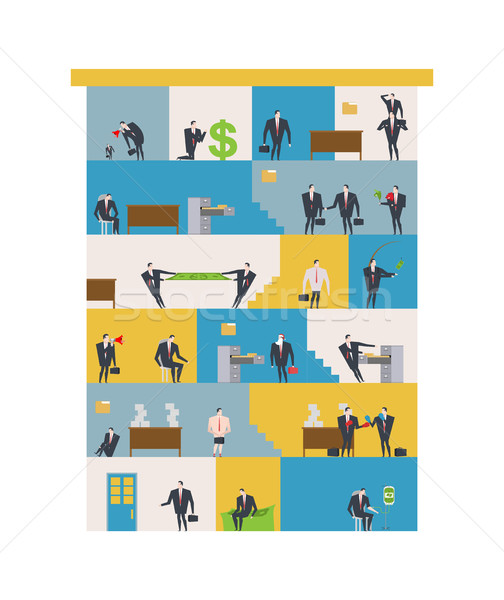 Office life Corporate. Managers in workplace. Business situation Stock photo © MaryValery