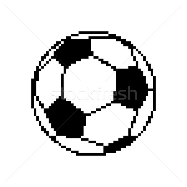 Soccer ball pixel art. Football pixelated isolated on white back Stock photo © MaryValery