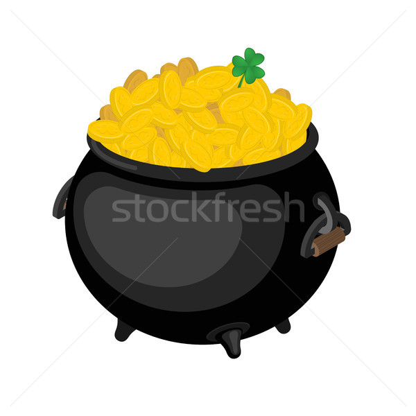 Stock photo: Gold leprechaun. St. Patrick's Day national holiday in Ireland.