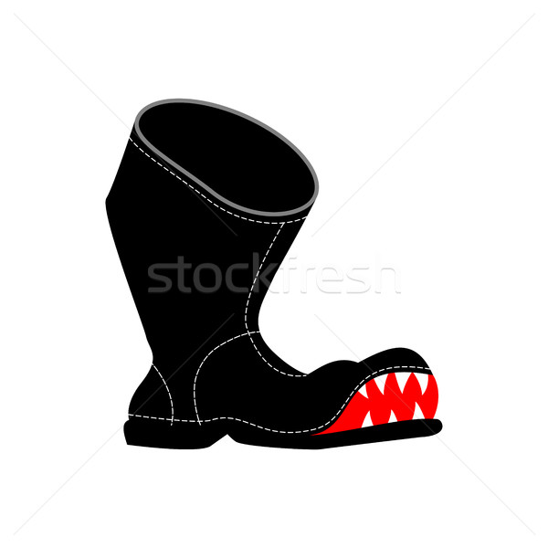 Torn boots with teeth. Poor old shoes isolated Stock photo © MaryValery