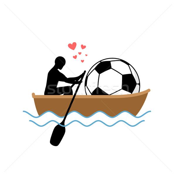 Voetbal vent voetbal bal boot Stockfoto © MaryValery