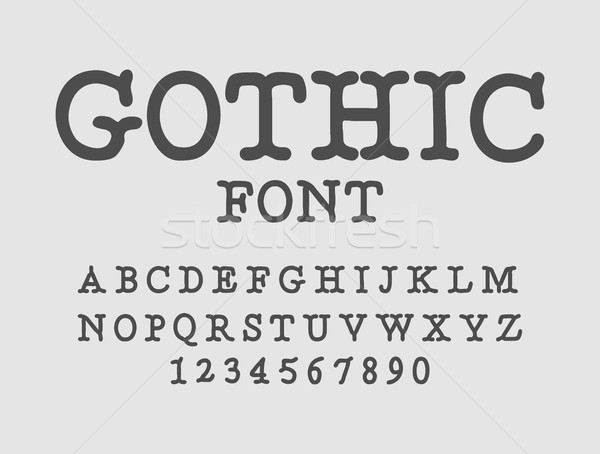Gothic font. Serif antique. Traditional ancient manuscripts alph Stock photo © MaryValery