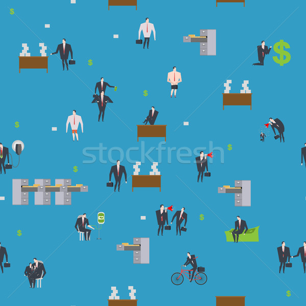 Office life pattern. Corporate background. Managers in workplace Stock photo © MaryValery