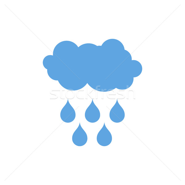 Cloud and rain icon. Weather pictogram isolated Stock photo © MaryValery