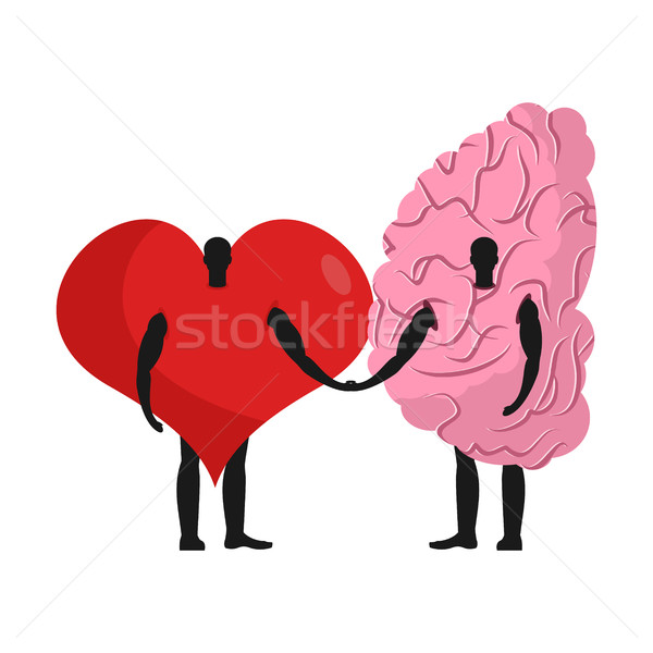 brain and heart friends. Friendship love and reason Stock photo © MaryValery