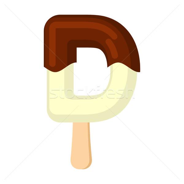 Lettera d gelato carattere alfabeto freddo Foto d'archivio © MaryValery
