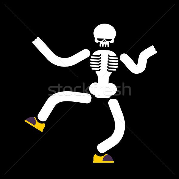 танцы скелет изолированный череп улице Dance Сток-фото © MaryValery
