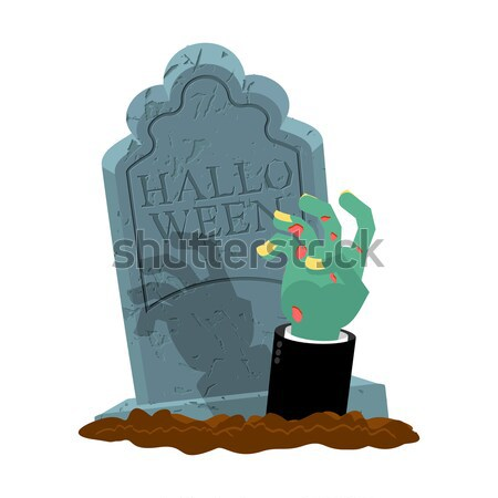 Zombies in sack. Dismembered corpse in bag. Hands and head of cl Stock photo © MaryValery
