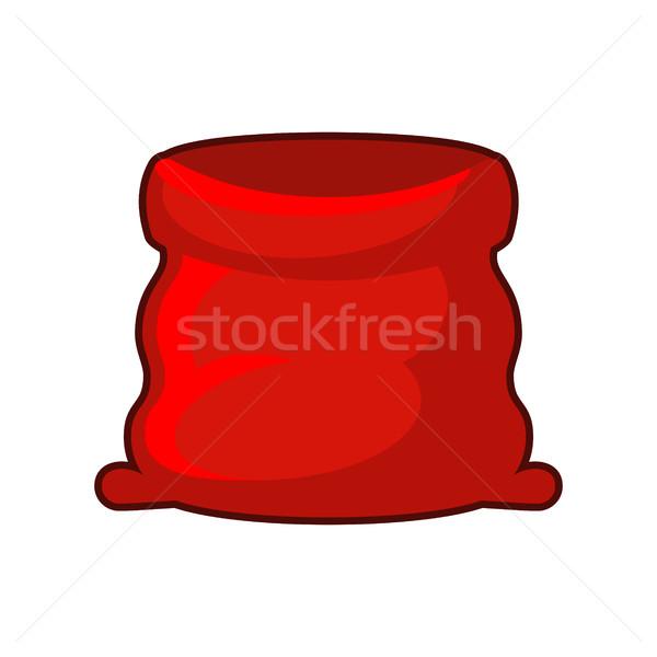 Stock fotó: Piros · zsák · mikulás · nagy · nyitva · táska