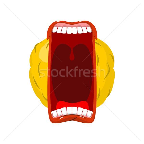 顔文字 オープン 口 歯 クレイジー 感情 ストックフォト © MaryValery