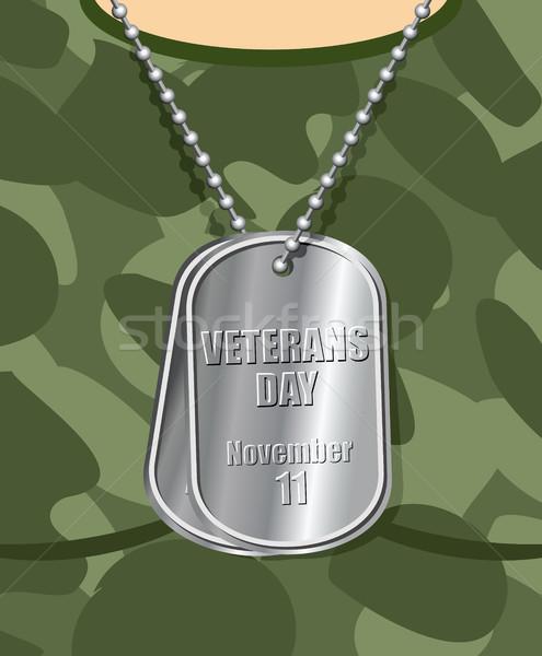 Giorno veterano esercito badge petto soldato Foto d'archivio © MaryValery