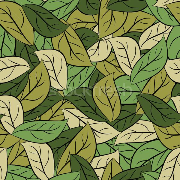 Militar textura hojas ejército follaje Foto stock © MaryValery