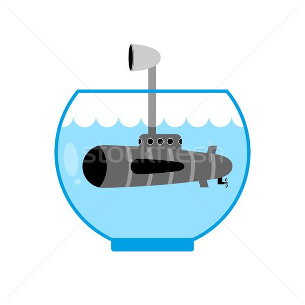 подводная лодка аквариум воды пространстве Сток-фото © MaryValery