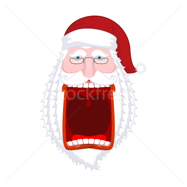 Angry Santa Claus shouts. Scary grandfather yelling. Crazy Santa Stock photo © MaryValery