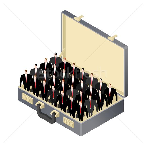 üzleti csapat bent nyitva tok bőrönd vezetőség Stock fotó © MaryValery