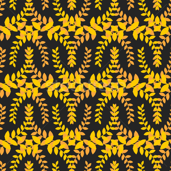 Olive branch seamless pattern. Golden floral wreath ornament Stock photo © MaryValery