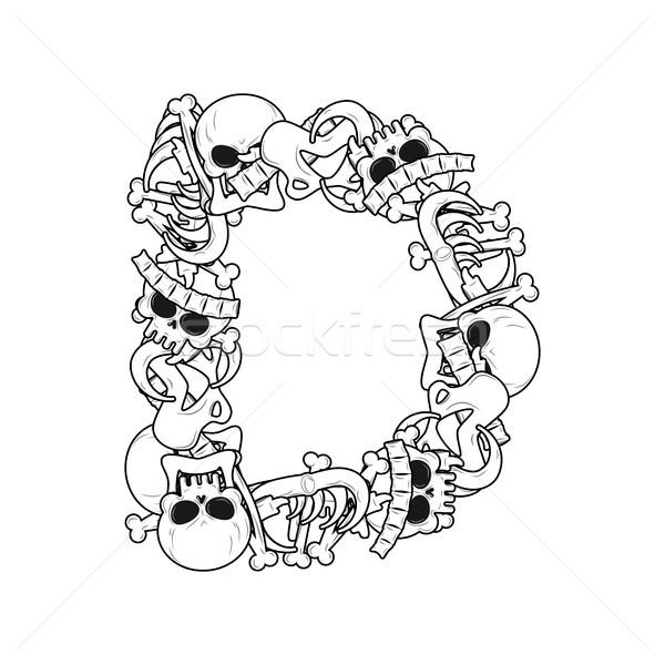 Letra d esqueleto huesos fuente anatomía alfabeto Foto stock © MaryValery