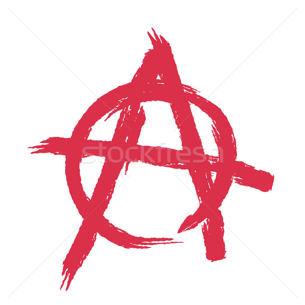 Anarchy sign isolated. Brush strokes grunge style Stock photo © MaryValery