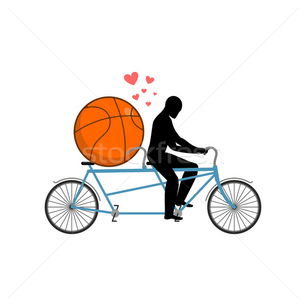 баскетбол парень мяча тандем любителей Сток-фото © MaryValery