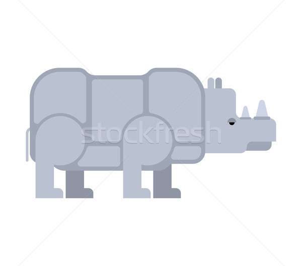 Rhinoceros isolated. Africa Wild beast. Beast with horn Stock photo © MaryValery