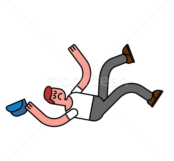 guy fall isolated. Man falling. Pain and discontent Stock photo © MaryValery
