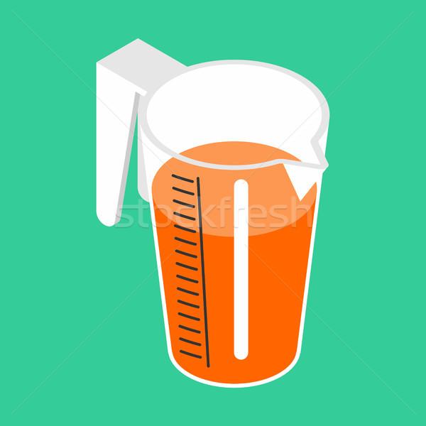 Sürahi portakal suyu yalıtılmış izometrik turuncu içmek Stok fotoğraf © MaryValery