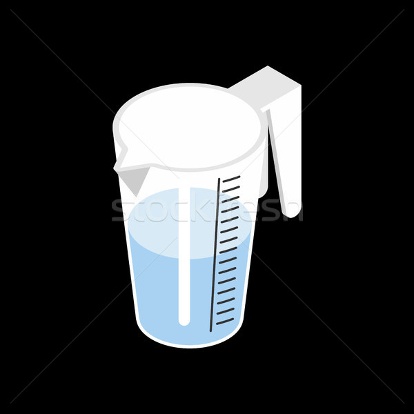Stock photo: Pitcher with water isolated isometry. Drinking on white backgrou